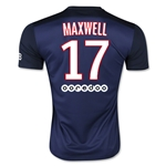 Paris Saint-Germain 15/16 MAXWELL Home Soccer Jersey