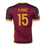AS Roma 15/16 PJANIC Authentic Home Soccer Jersey