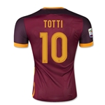 AS Roma 15/16 TOTTI Authentic Home Soccer Jersey