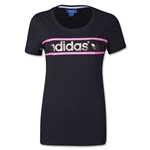 adidas Originals Women's Heritage Logo T-Shirt (Bk/Gold)