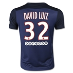 Paris Saint-Germain 15/16 DAVID LUIZ Youth Home Soccer Jersey