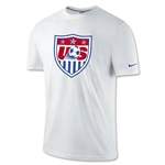 USA Core Crest T-Shirt (White)