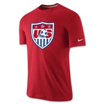 USA Core Crest T-Shirt (Red)