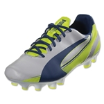 PUMA Women's evoSPEED 5.3 FG (White/Snorkel Blue)