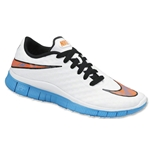 Nike Junior Free Hypervenom Running Shoe (White/Blue Lagoon/Total Crimson/Black)