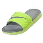 Nike Benassi Solarsoft Slide 2 Sandal (Volt/Dove Grey/black)
