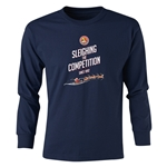 FC Santa Claus Sleighing the Competition Youth Long Sleeve T-Shirt (Navy)