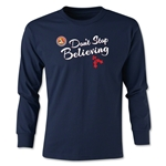 FC Santa Claus Don't Stop Believing Youth Long Sleeve T-Shirt (Navy)
