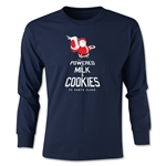 FC Santa Claus Milk and Cookies Youth Long Sleeve T-Shirt (Navy)