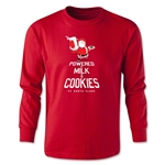 FC Santa Claus Milk and Cookies Youth Long Sleeve T-Shirt (Red)