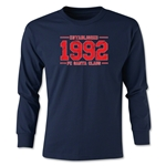 FC Santa Claus Established 1992 Youth Long Sleeve T-Shirt (Navy)