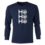 FC Santa Claus Ho, Ho, Ho Youth Long Sleeve T-Shirt (Navy)
