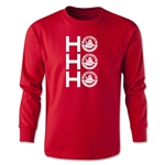 FC Santa Claus Ho, Ho, Ho Youth Long Sleeve T-Shirt (Red)