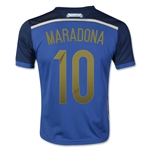 Argentina 2014 MARADONA Youth Away Soccer Jersey