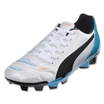 PUMA evoPOWER 4.2 FG Junior (White/Black/Hawaiian Ocean)