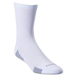 adidas Team Speed Sock System Light Cushion Mid Sock (White/Gray)