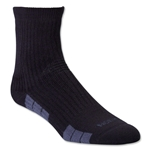 adidas Team Speed Sock System Maximum Cushion Mid Sock (Blk/Grey)
