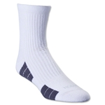 adidas Team Speed Sock System Maximum Cushion Mid Sock (White/Gray)