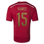 Spain 2014 Sergio Ramos Home Soccer Jersey