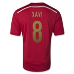 Spain 2014 Xavi Hernandez Spain Home Soccer Jersey
