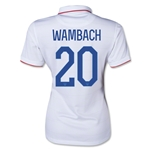 USA Women's National Team 2014 Abby Wambach Women's Home Soccer Jersey 2014
