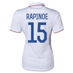 USA Women's National Team 2014 Megan Rapinoe Women's Home Soccer Jersey