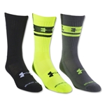 Under Armour I Will Crew II-3 Pack Sock (Neon Yellow)