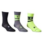 Under Armour I Will Crew II Youth-3 Pack (Neon Yellow)