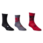 Under Armour I Will Crew II Youth-3 Pack (Red)