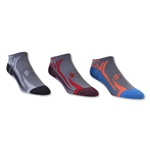 Under Armour Phantom III No Show Sock-3 Pack (Slv/Or)