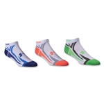 Under Armour Phantom III No Show Sock-3 Pack (White)
