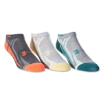 Under Armour Women's Phantom III No Show Sock-3 Pack (Gray)