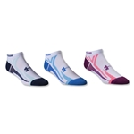 Under Armour Women's Phantom III No Show Sock-3 Pack (White)