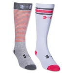 Under Armour Women's Retrostrip OTC Sock (Neon Pink)