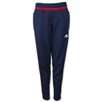 adidas Women's USA Tiro 15 Training Pant (Navy/Red)