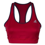 adidas Women's USA TechFit Bra 3 Stripes (Red/Navy)