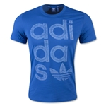 adidas Originals Reverse Print Wrap Logo T-Shirt (Blue)