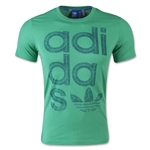 adidas Originals Reverse Print Wrap Logo T-Shirt (Green)