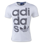 adidas Originals Reverse Print Wrap Logo T-Shirt (White/Gray)