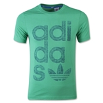 adidas Originals Youth Reverse Print Wrap Logo T-Shirt (Green)