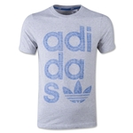 adidas Originals Youth Reverse Print Wrap Logo T-Shirt (Gray)