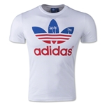 adidas Originals Palm Tree Trefoil Graphic T-Shirt (White)