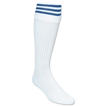 3 Stripe Padded Socks (White/Royal)