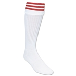 3 Stripe Padded Socks (White/Red)