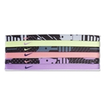 Nike Mixed Graphic Print Headband Assorted 6-Pack (Gray)