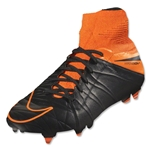 Nike Hypervenom Phantom II Leather SG-Pro Black/Total Orange)