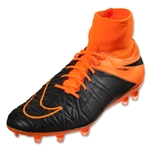 Nike Hypervenom Phatal II DF Leather FG (Black/Total Orange)