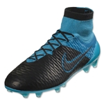 Nike Magista Obra Leather FG (Black/Turquoise Blue)