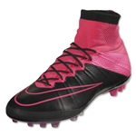 Nike Mercurial Superfly Leather AG-R (Black/Hyper Pink)
