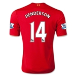 Liverpool 15/16 HENDERSON Home Soccer Jersey